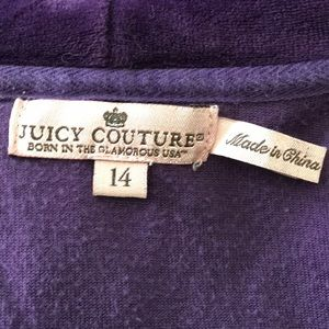 Juicy Couture Jackets & Coats - Juicy Couture purple velour hoodie XS 14